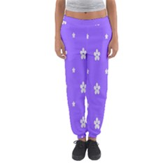 Light Purple Flowers Background Images Women s Jogger Sweatpants by Alisyart
