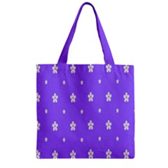 Light Purple Flowers Background Images Zipper Grocery Tote Bag by Alisyart