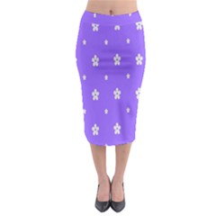 Light Purple Flowers Background Images Midi Pencil Skirt