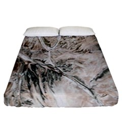 Earth Landscape Aerial View Nature Fitted Sheet (california King Size) by Simbadda
