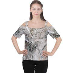 Earth Landscape Aerial View Nature Women s Cutout Shoulder Tee by Simbadda