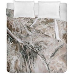 Earth Landscape Aerial View Nature Duvet Cover Double Side (california King Size) by Simbadda