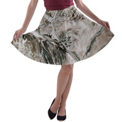 Earth Landscape Aerial View Nature A Line Skater Skirt