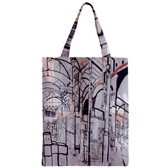 Cityscapes England London Europe United Kingdom Artwork Drawings Traditional Art Classic Tote Bag by Simbadda