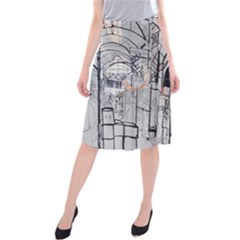 Cityscapes England London Europe United Kingdom Artwork Drawings Traditional Art Midi Beach Skirt