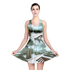 Digital Art Paint In Water Reversible Skater Dress