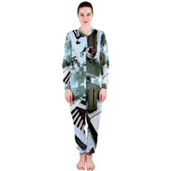 Digital Art Paint In Water Onepiece Jumpsuit (ladies)