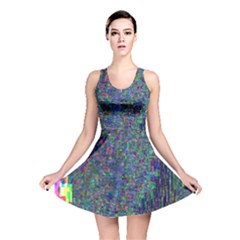 Glitch Art Reversible Skater Dress
