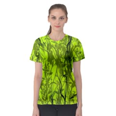 Concept Art Spider Digital Art Green Women s Sport Mesh Tee by Simbadda