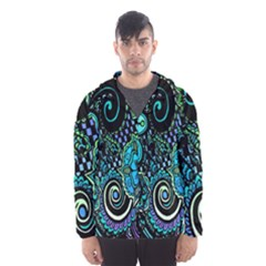 Sun Set Floral Hooded Wind Breaker (men)