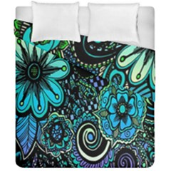 Sun Set Floral Duvet Cover Double Side (california King Size)