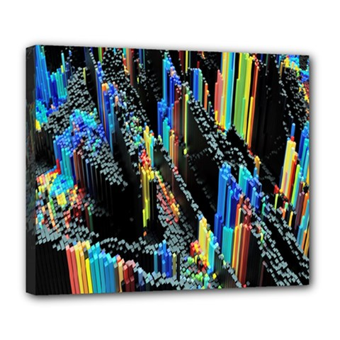 Abstract 3d Blender Colorful Deluxe Canvas 24  X 20