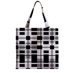 Pattern Zipper Grocery Tote Bag by Valentinaart