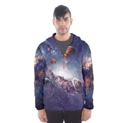 Galaxy Hooded Wind Breaker (men) by strawberrymilkstore8