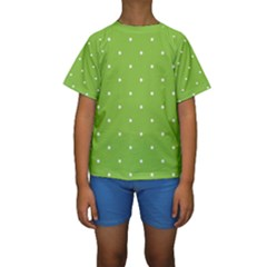 Mages Pinterest Green White Polka Dots Crafting Circle Kids  Short Sleeve Swimwear