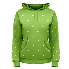 Mages Pinterest Green White Polka Dots Crafting Circle Women s Pullover Hoodie