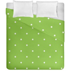 Mages Pinterest Green White Polka Dots Crafting Circle Duvet Cover Double Side (california King Size) by Alisyart