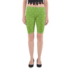 Mages Pinterest Green White Polka Dots Crafting Circle Yoga Cropped Leggings