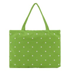 Mages Pinterest Green White Polka Dots Crafting Circle Medium Tote Bag