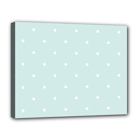 Mages Pinterest White Blue Polka Dots Crafting  Circle Canvas 14  X 11