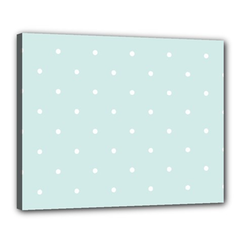 Mages Pinterest White Blue Polka Dots Crafting  Circle Canvas 20  X 16  by Alisyart