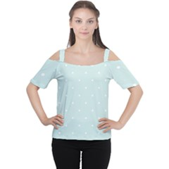 Mages Pinterest White Blue Polka Dots Crafting  Circle Women s Cutout Shoulder Tee by Alisyart