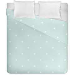 Mages Pinterest White Blue Polka Dots Crafting  Circle Duvet Cover Double Side (california King Size)