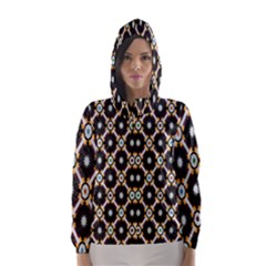 Flower Floral Line Star Sunflower Hooded Wind Breaker (women) by Alisyart