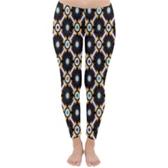 Flower Floral Line Star Sunflower Classic Winter Leggings