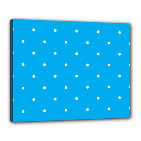 Mages Pinterest White Blue Polka Dots Crafting Circle Canvas 20  X 16