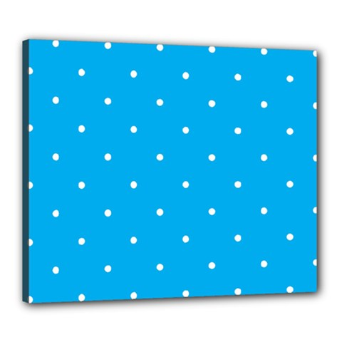 Mages Pinterest White Blue Polka Dots Crafting Circle Canvas 24  X 20