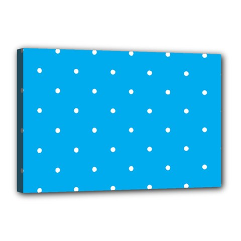 Mages Pinterest White Blue Polka Dots Crafting Circle Canvas 18  X 12  by Alisyart