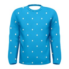 Mages Pinterest White Blue Polka Dots Crafting Circle Men s Long Sleeve Tee by Alisyart