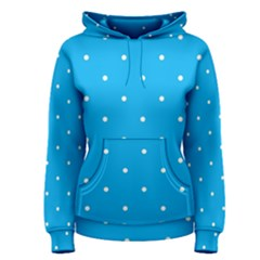 Mages Pinterest White Blue Polka Dots Crafting Circle Women s Pullover Hoodie