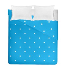 Mages Pinterest White Blue Polka Dots Crafting Circle Duvet Cover Double Side (full/ Double Size)