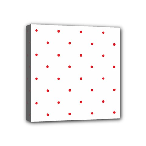Mages Pinterest White Red Polka Dots Crafting Circle Mini Canvas 4  X 4