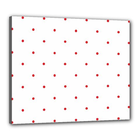 Mages Pinterest White Red Polka Dots Crafting Circle Canvas 24  X 20  by Alisyart