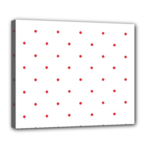 Mages Pinterest White Red Polka Dots Crafting Circle Deluxe Canvas 24  X 20   by Alisyart