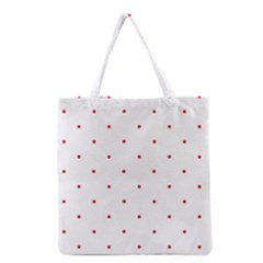 Mages Pinterest White Red Polka Dots Crafting Circle Grocery Tote Bag