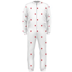 Mages Pinterest White Red Polka Dots Crafting Circle Onepiece Jumpsuit (men)