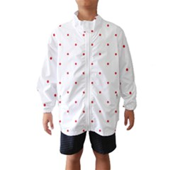Mages Pinterest White Red Polka Dots Crafting Circle Wind Breaker (kids)