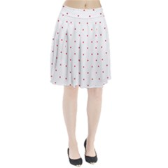 Mages Pinterest White Red Polka Dots Crafting Circle Pleated Skirt by Alisyart