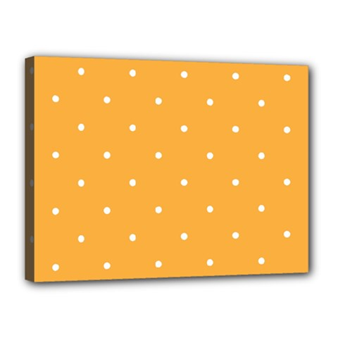 Mages Pinterest White Orange Polka Dots Crafting Canvas 16  X 12