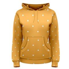Mages Pinterest White Orange Polka Dots Crafting Women s Pullover Hoodie