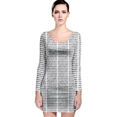 Methods Compositions Detection Of Microorganisms Cells Long Sleeve Bodycon Dress by Alisyart