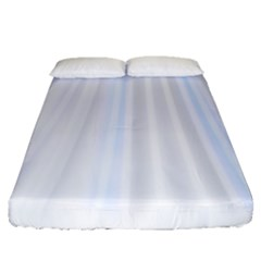 Layer Light Rays Purple Blue Fitted Sheet (queen Size)