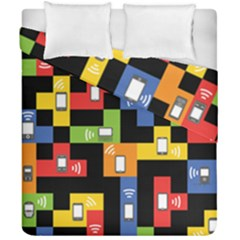 Mobile Phone Signal Color Rainbow Duvet Cover Double Side (california King Size) by Alisyart