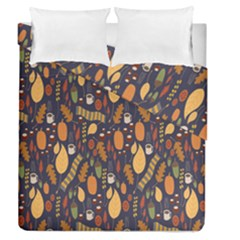 Macaroons Autumn Wallpaper Coffee Duvet Cover Double Side (queen Size)