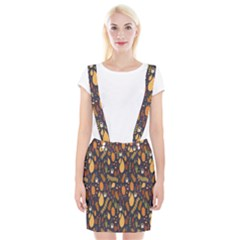 Macaroons Autumn Wallpaper Coffee Suspender Skirt