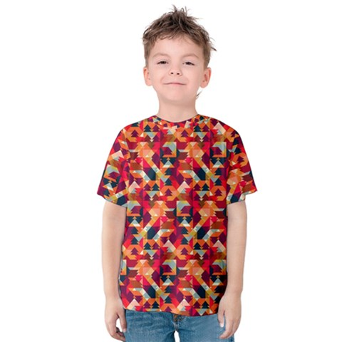 Modern Graphic Kids  Cotton Tee by Alisyart